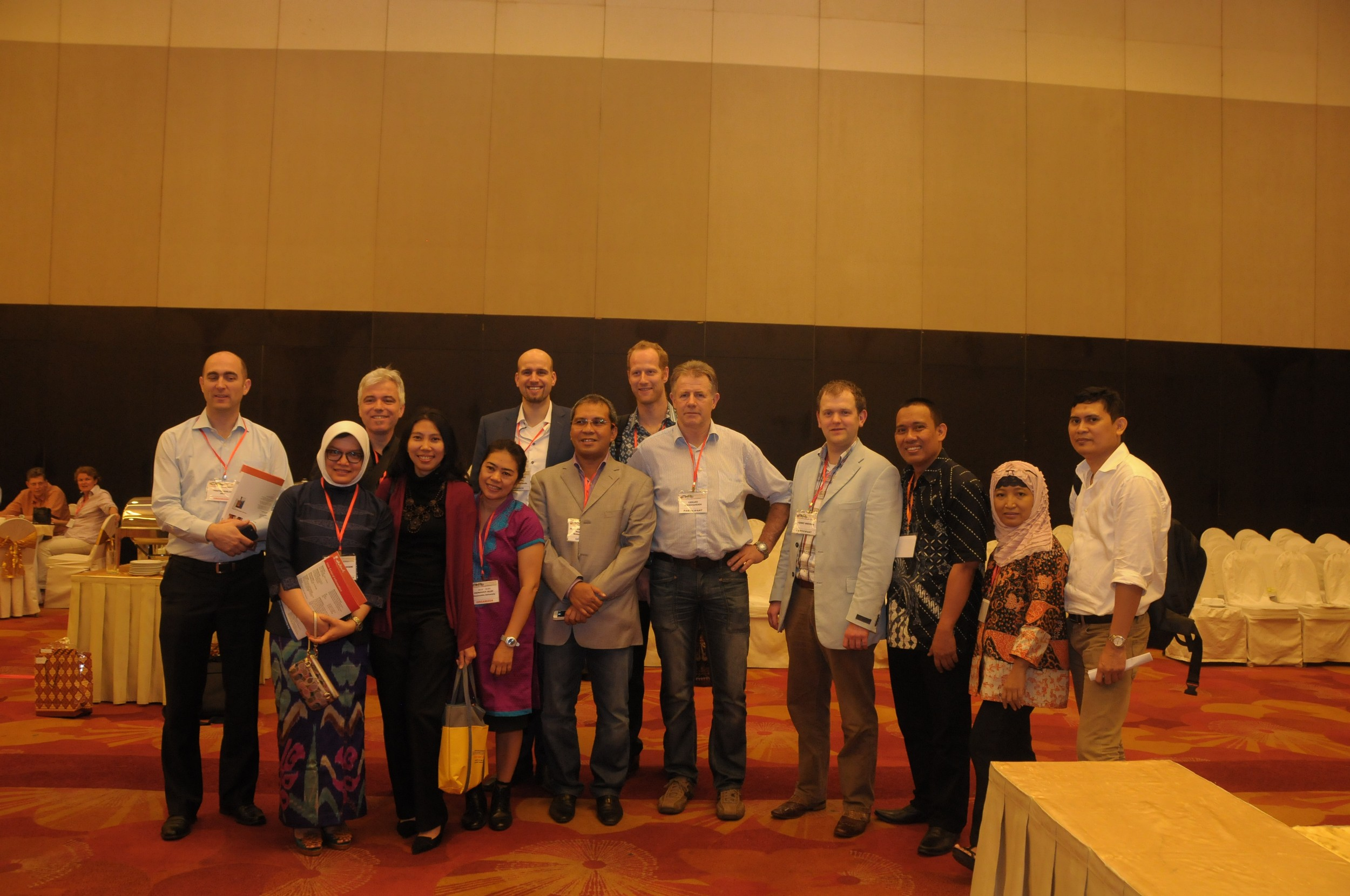 Dutch Business delegation with Prof. Purwanto and Indonesian organising team